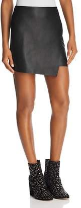 Aqua Faux Leather Envelope Skirt - 100% Exclusive