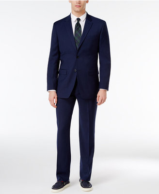 Tommy Hilfiger Men's Slim-Fit Navy Micro Stripe Stretch Performance Suit $650 thestylecure.com