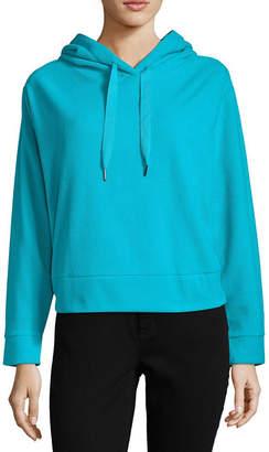Xersion Brushed Fleece Crop Pullover Hoodie