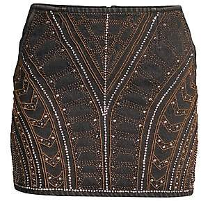 The Kooples Women's Embellished Denim Mini Skirt