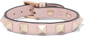 Valentino Garavani The Rockstud Leather Bracelet - Pink