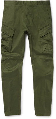 NikeLab ACG Tapered Stretch-Cotton Cargo Trousers $220 thestylecure.com