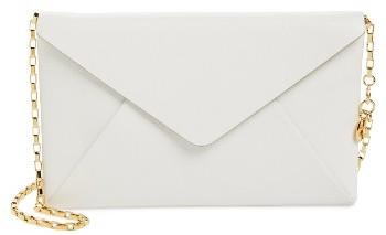 MICHAEL Michael KorsWomen's Michael Kors Small Calfskin Leather Envelope Clutch - White