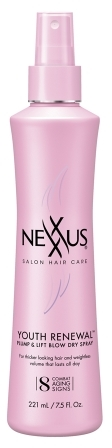 Nexxus Youth Renewal Plump & Lift Blow Dry Spray