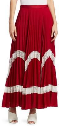 Elizabeth and James Regina Pleated Maxi Skirt