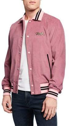 Ovadia & Sons Men's Cord Varsity Jacket