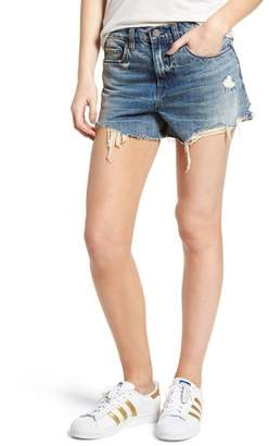 Blank NYC BLANKNYC Denim The Barrow High Waist Cutoff Denim Shorts (Earth Blues)
