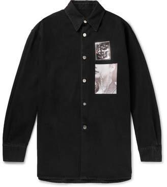 Raf Simons Oversized Appliquéd Denim Shirt Jacket