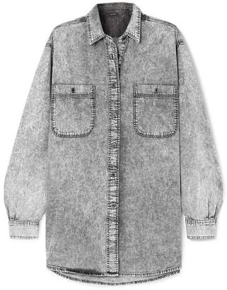 Isabel Marant Lynton Oversized Stonewashed Denim Shirt - Light gray