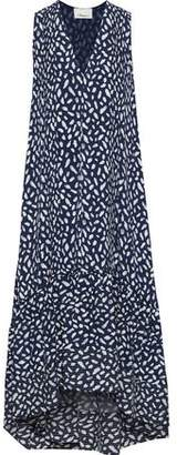 3.1 Phillip Lim Pintucked Printed Washed-silk Dress