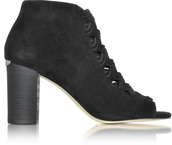 Michael Kors Westley Peep-Toe Suede Ankle Boot