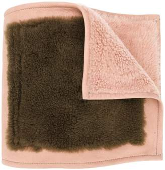Yves Salomon colour block fur scarf