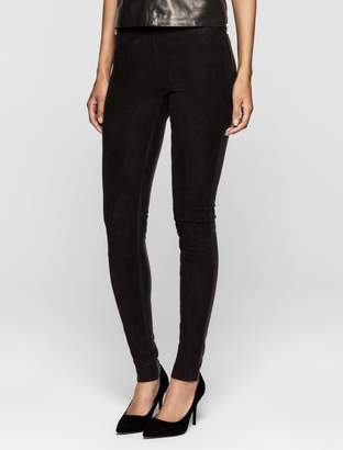 Calvin Klein rebel edge suede leggings