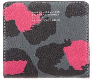Marc by Marc Jacobs Leopard Print Fold-Over Wallet w/ Tags