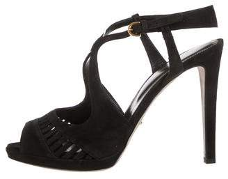 Sergio Rossi Peep-Toe Cut-Out Sandals