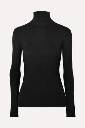 Joseph Silk-blend Turtleneck Sweater - Black