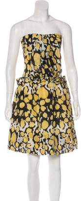 Christian Lacroix Silk Abstract Print Dress