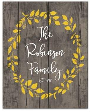 Designs Direct Fall Family Wreath 16-Inch x 20-Inch Canvas Wall Art