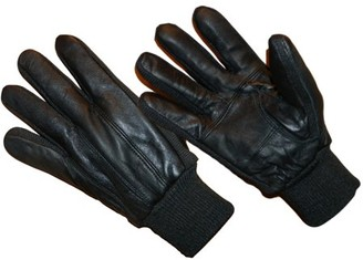 HANDS ONTM LD2311-OSFM, Genuine Sheepskin Leather Glove Fleece Lined with Knitwrist (One Size Fits Most)
