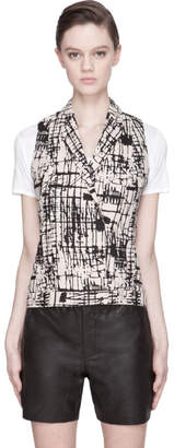 J Brand Ready to Wear Nude Beige Hedy Graphic Vest