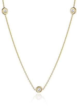"Roberto Coin Tiny Treasures"" 3 Station Bezel Set Diamond Pendant Necklace"