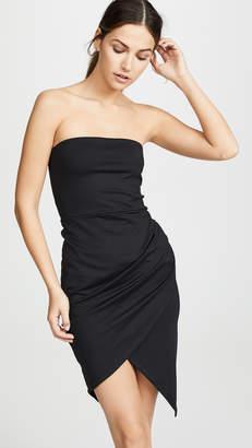 Susana Monaco Strapless Side Pleat Dress