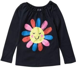 Joe Fresh Long Sleeve Graphic Tee (Toddler & Little Girls)