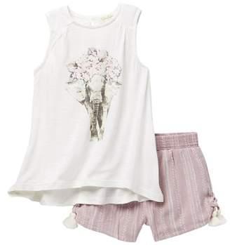Jessica Simpson Swing Top & Smocked Shorts Set (Toddler Girls)