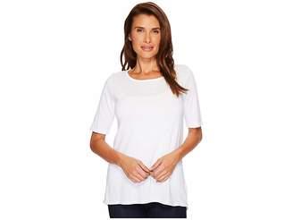 Allen Allen Sweater 1/2 Sleeve High-Low Tee Women's Sweater