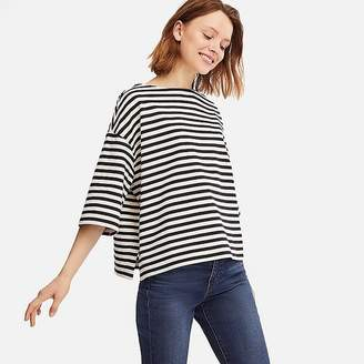 Uniqlo Women's Striped Wide 3/4 Sleeve T-Shirt