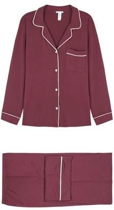 Eberjey Gisele Burgundy Pyjama Set