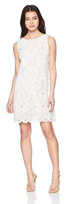 Jessica Howard Women's Petite Laser Cut Shift Dress