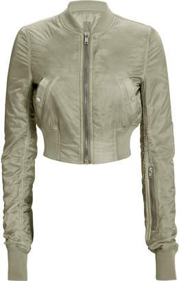 Rick Owens Grey Cropped Flight Bomber Jacket