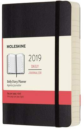 Moleskine 12M DAILY POCKET BLACK SOFT COVER
