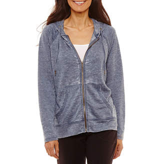 ST. JOHN'S BAY SJB ACTIVE Active Hooded Lightweight Softshell Jacket-Petite