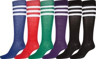 AR+ Sakkas 100SHK Poly Blend Knee High Socks Assorted 6-Pack - Solid