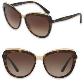 Dolce & Gabbana 57MM Cat Eye Sunglasses