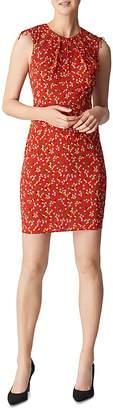 Whistles Peony-Print Stretch-Silk Dress
