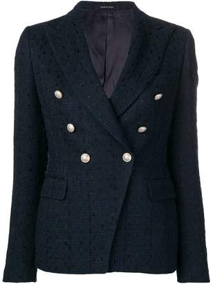 Tagliatore double-breasted tweed blazer