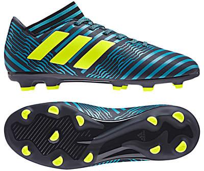 Children's Nemeziz 17.3 FG Football Boots, Black/Blue