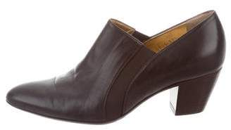 Walter Steiger Leather Semi Pointed-Toe Booties