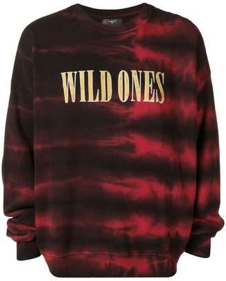 Amiri tie dye print sweater