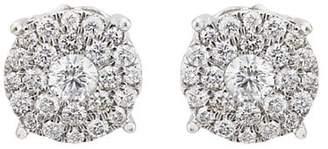 Sara Weinstock Women's Illusion Stud Earrings - Silver