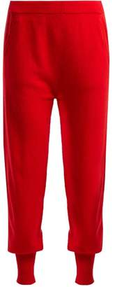 Allude Straight Leg Cashmere Track Pants - Womens - Red