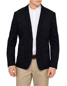 Paul Smith Mixed Jersey Cut And Sew Blazer