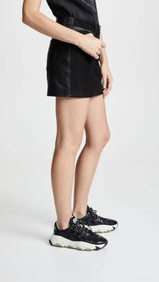 Hudson Exposed Zip Leather Skirt