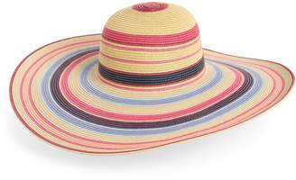 Nordstrom Ombre Stripe Floppy Straw Hat
