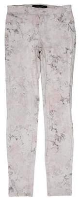 J Brand Floral Print Skinny Jeans