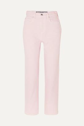 Alexander Wang Bluff High-rise Straight-leg Jeans - Blush