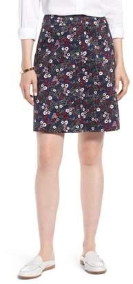 1901 Button Front Floral Skirt (Regular & Petite)